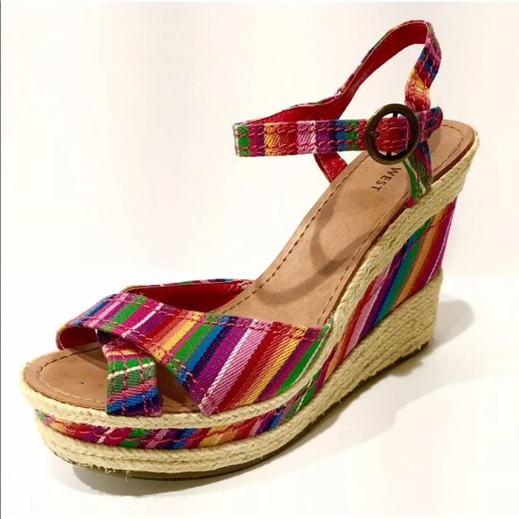 ba7dbf4dbc8 NINE WEST Thoughtful Espadrille Platform Wedges 9.  M 5c4a35ec04e33df821c36869